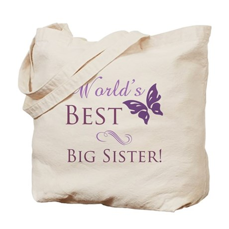 World's Best Big Sister Tote Bag