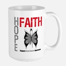 Brain Cancer Hope Faith Mug