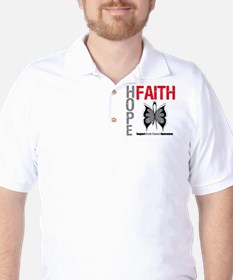 Brain Cancer Hope Faith T-Shirt