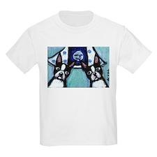 Boston Terrier Two smiling mo Kids T-Shirt