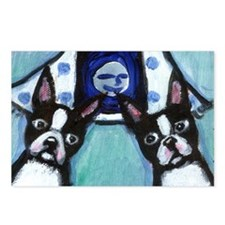 Boston Terrier Two smiling mo Postcards (Package o