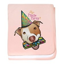 Pittie Party baby blanket