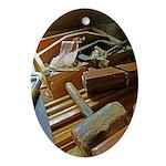 A Carpenter's Tools (2) Ornament (Oval)