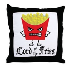 Lord of Fries Throw Pillow