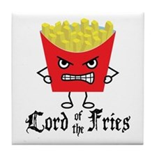 Lord of Fries Tile Coaster