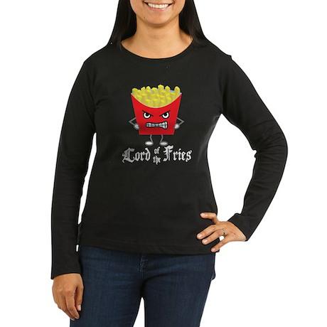 Lord of Fries Women's Long Sleeve Dark T-Shirt