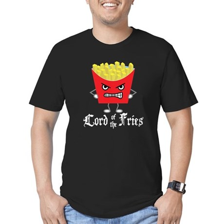 Lord of Fries Men's Fitted T-Shirt (dark)