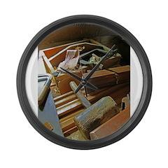 A Carpenter's Tools (2) Large Wall Clock