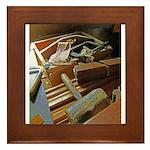 A Carpenter's Tools (2) Framed Tile