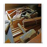 A Carpenter's Tools (2) Tile Coaster
