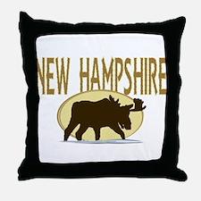 NH Moose Throw Pillow