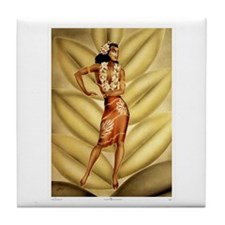 Hula Dancer Tile Coaster