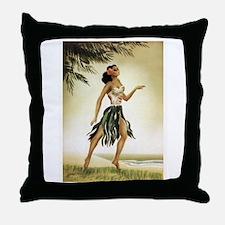 Hawaiian Dancer Throw Pillow