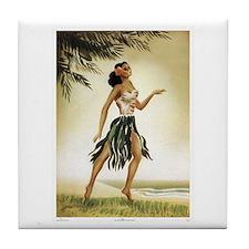 Hawaiian Dancer Tile Coaster