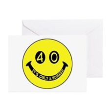 40th birthday smiley face Greeting Cards (Package