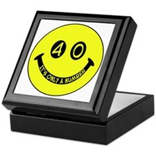 40th birthday smiley face Keepsake Box