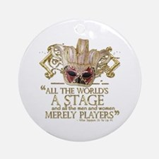 As You Like It Quote Ornament (Round)