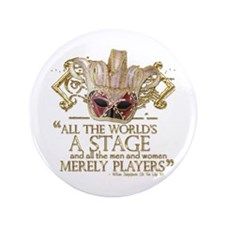 """As You Like It Quote 3.5"""" Button (100 pack)"""