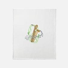Soprano Saxophone Throw Blanket
