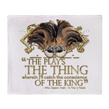 Shakespeare Hamlet Quote Throw Blanket