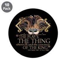 """Shakespeare Hamlet Quote 3.5"""" Button (10 pack)"""