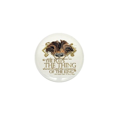 Shakespeare Hamlet Quote Mini Button (100 pack)
