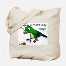 Step Up Parrot Tote Bag