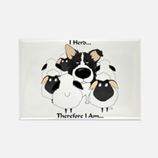 Border Collie - I Herd Rectangle Magnet