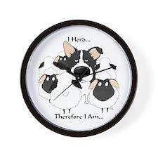 Border Collie - I Herd Wall Clock