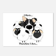 Border Collie - I Herd Postcards (Package of 8)