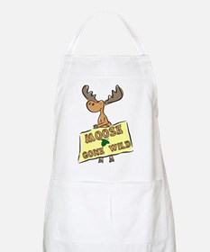 Moose Gone Wild Apron