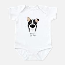 Big Nose Border Collie Infant Bodysuit