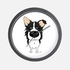 Big Nose Border Collie Wall Clock