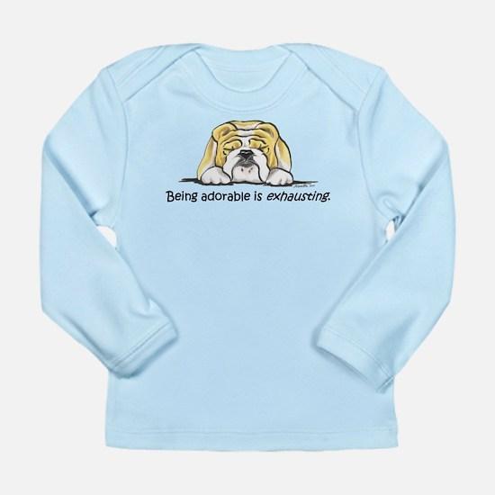 Adorable Bulldog Long Sleeve Infant T-Shirt