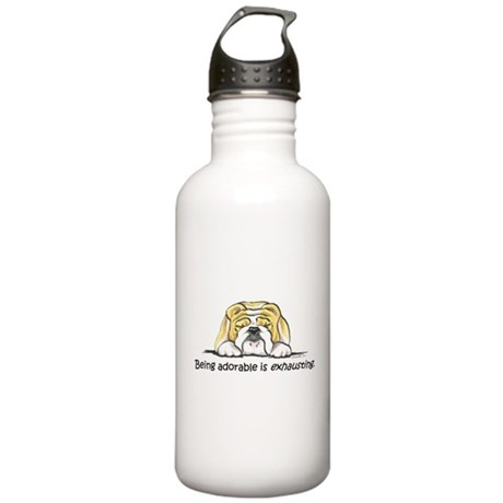 Adorable Bulldog Stainless Water Bottle 1.0L