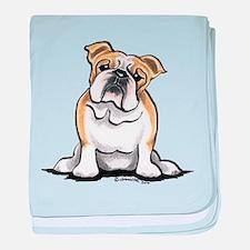 Cute English Bulldog baby blanket