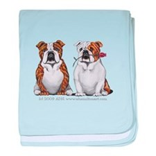 Bulldog Romance baby blanket