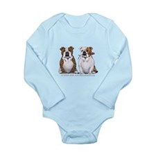 Bulldog Romance Long Sleeve Infant Bodysuit