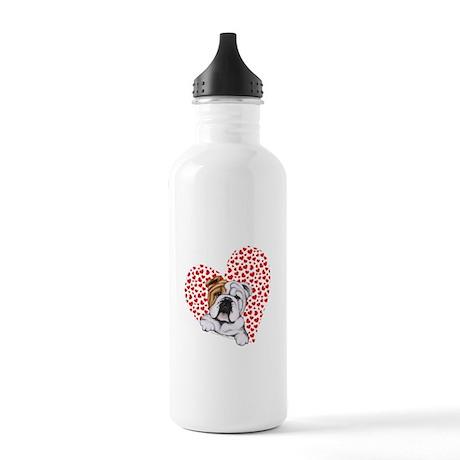 English Bulldog Love Stainless Water Bottle 1.0L