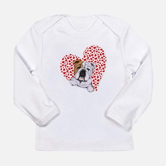 English Bulldog Love Long Sleeve Infant T-Shirt
