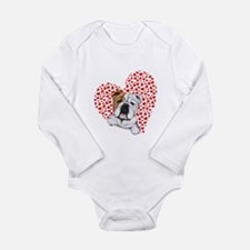 English Bulldog Love Onesie Romper Suit