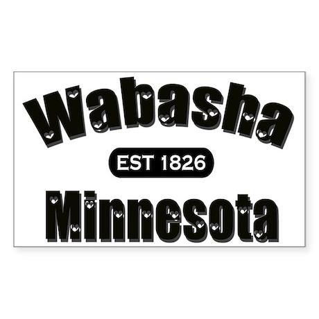 Wabasha Established 1826 Sticker (Rectangle 50 pk)