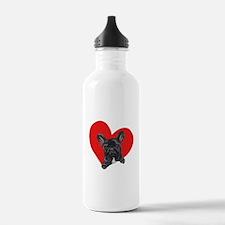 French Bulldog Love Water Bottle