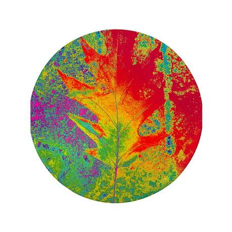 "Artsy Autumn 3.5"" Button"