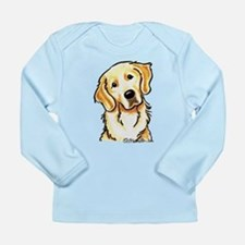 Golden Retriever Portrait Long Sleeve Infant T-Shi