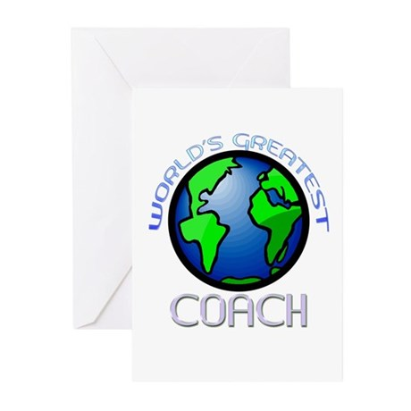 World's Greatest Coach Greeting Cards (Package of