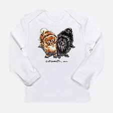 Black Red Pomeranian Long Sleeve Infant T-Shirt
