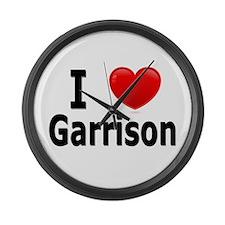 I Love Garrison Large Wall Clock