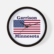 Garrison US Flag Wall Clock