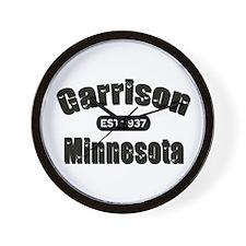 Garrison Established 1937 Wall Clock